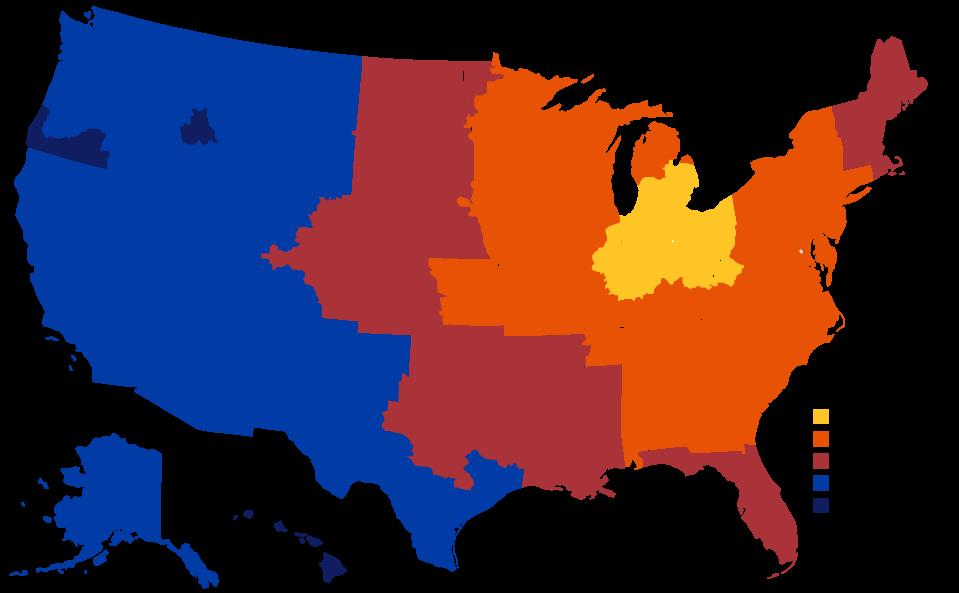 US MAP Parcel
