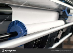Paper rill mechanism of professional printer